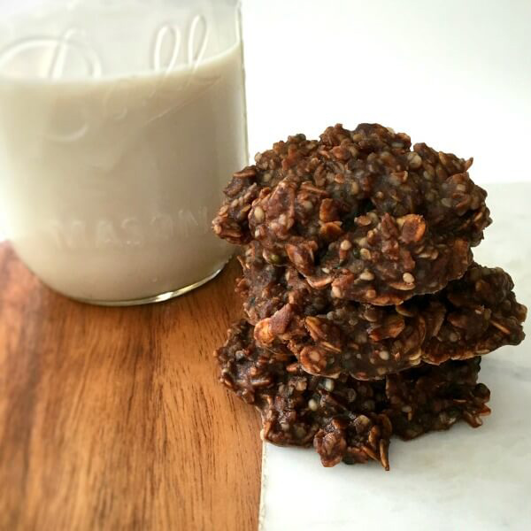 Hemp Seed and Oatmeal No-Bake Cookies