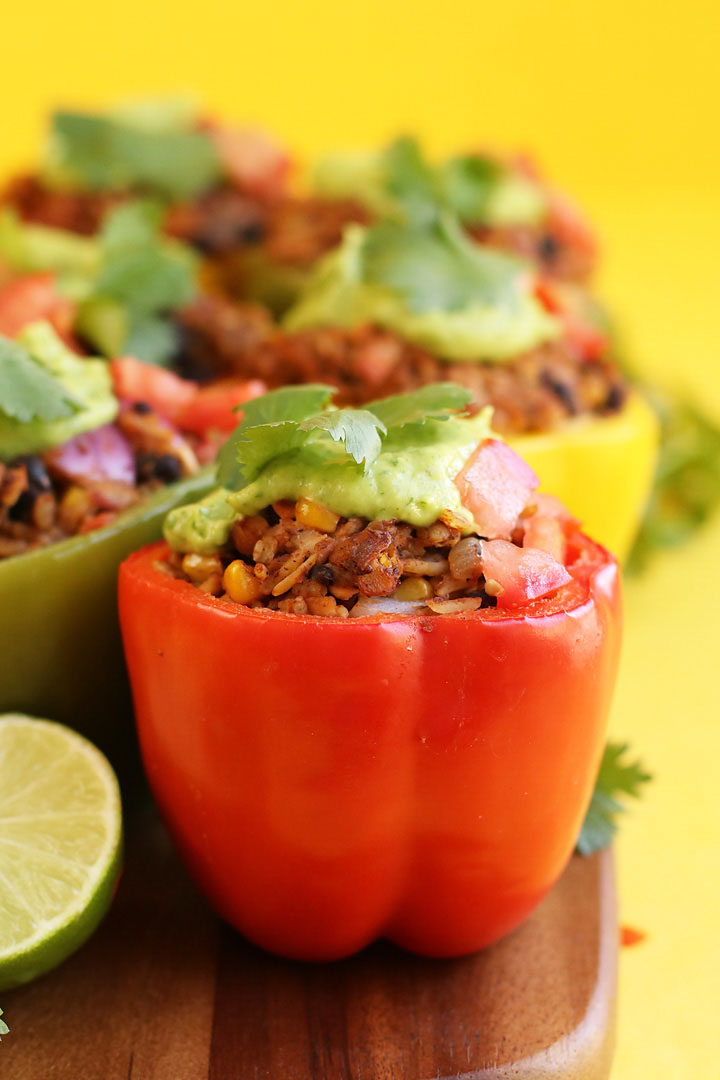 Mexican-Style Vegan Stuffed Peppers