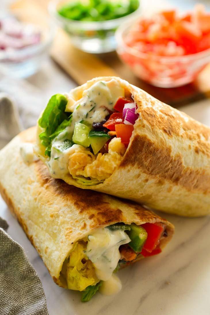 Vegan Mediterranean Wraps