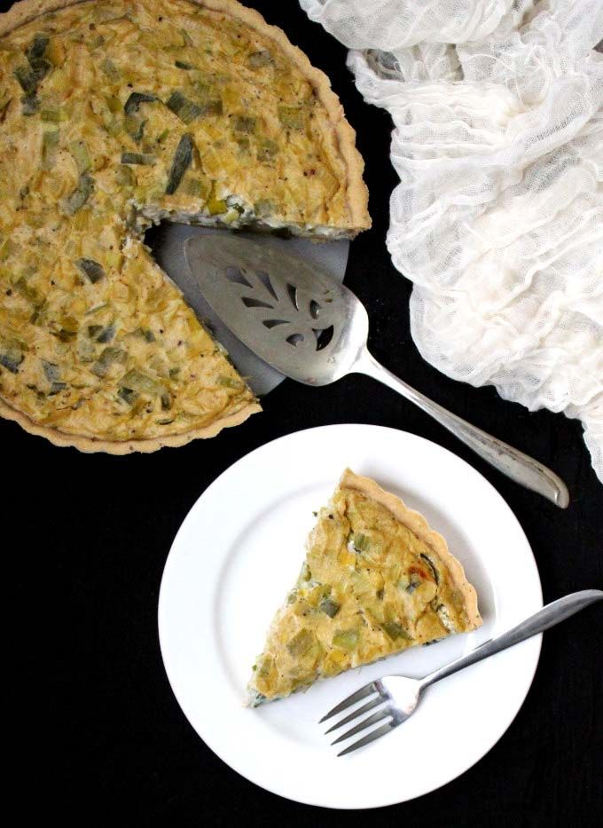 Vegan Leek Quiche