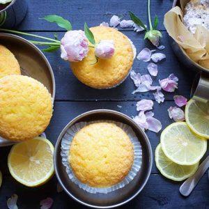 vegan magdalenas lemon muffins