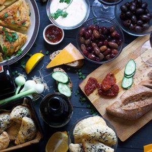 vegan tapas party table spanish meals
