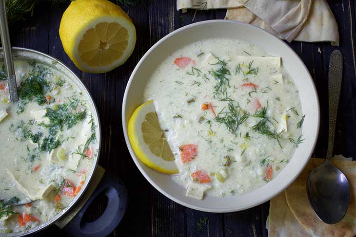 Greek Lemon Rice Soup supa greceasca