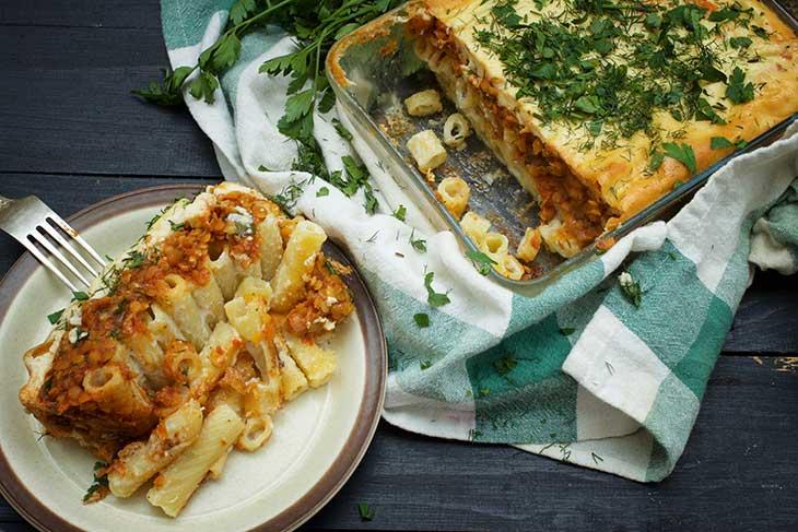 Greek Pasta Casserole Vegan Pastitsio de post reteta