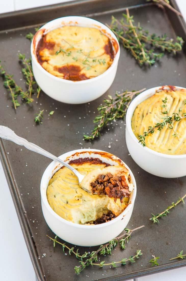 Mushroom and cauliflower vegan shepherds pie (Low Carb)