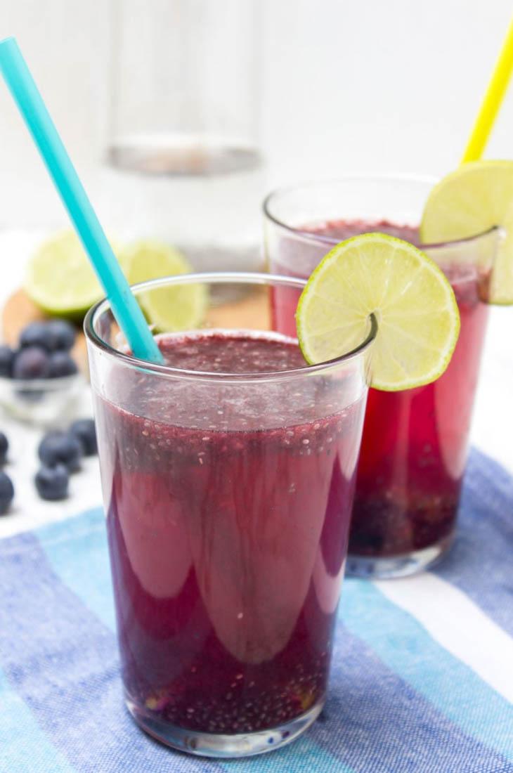 Blueberry Lime Chia Fresca