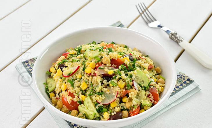 Salata de quinoa cu leurda - reteta video
