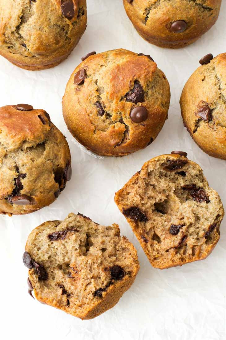 Simple vegan chocolate chip muffins