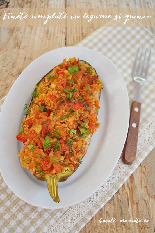 Vinete umplute cu legume si quinoa
