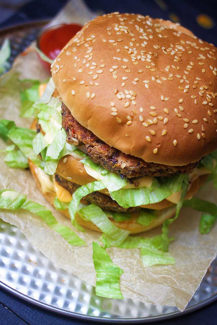 healthy vegan big mac burger