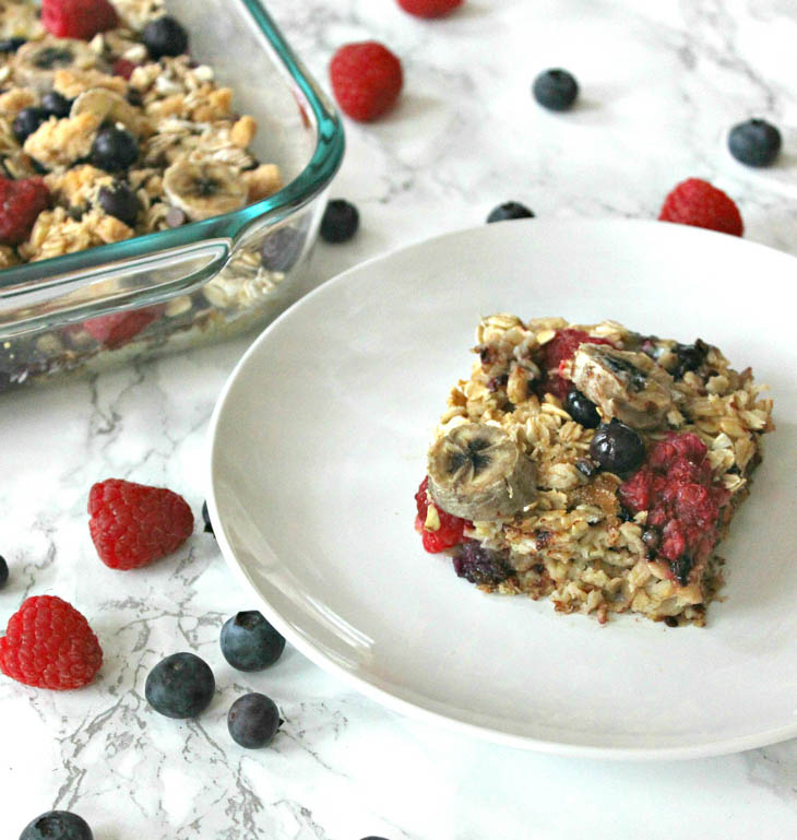 Easy Breakfast Recipe: Homemade Oatmeal Bars for vegan meal prep