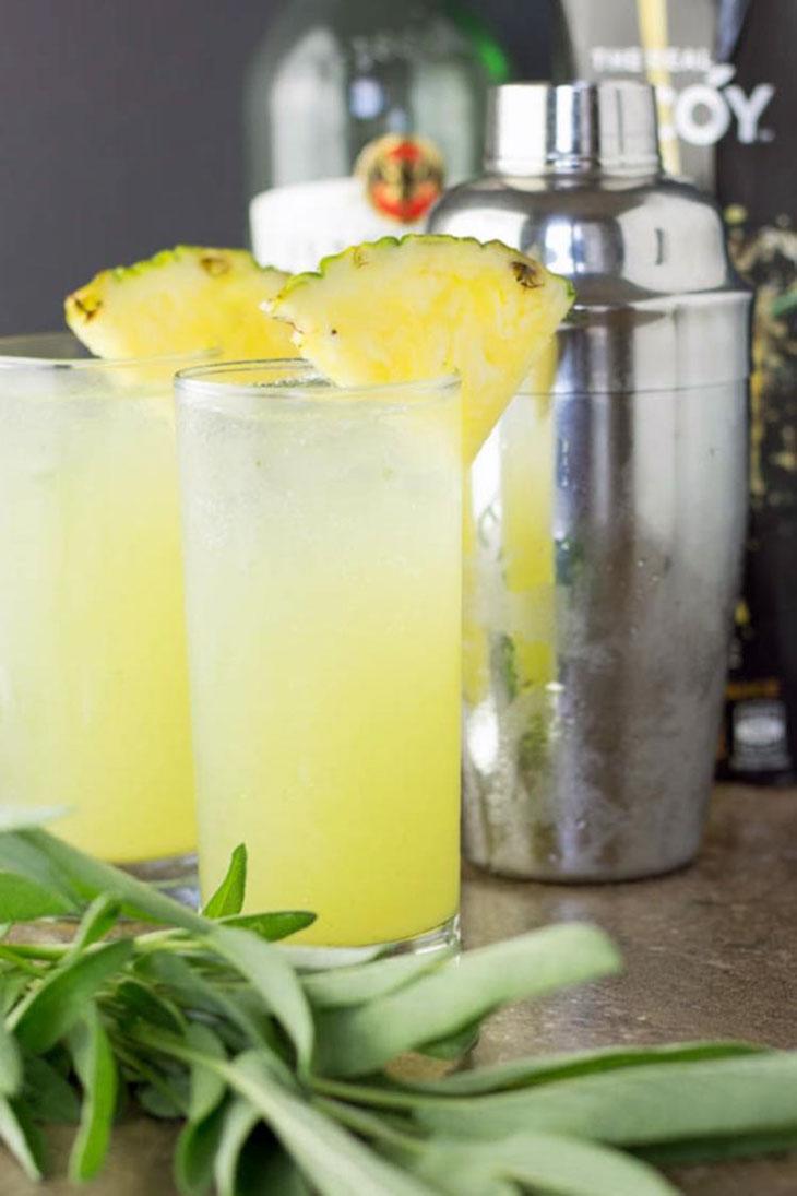 Pineapple and Sage Mojito