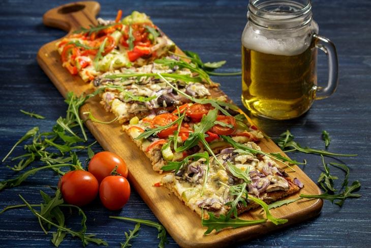 Pizza cu blat de quinoa