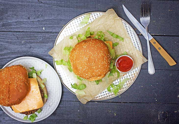 vegan big mac burger