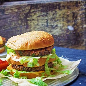 vegan big mac burger homemade recipe