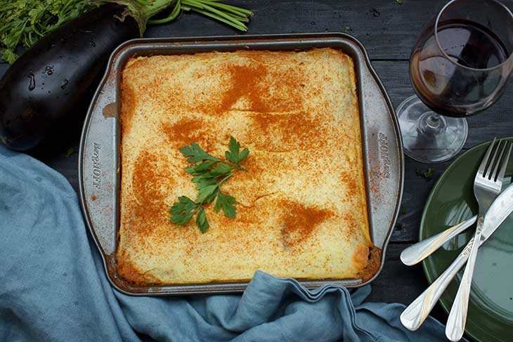 vegan greek moussaka musaca greceasca de post