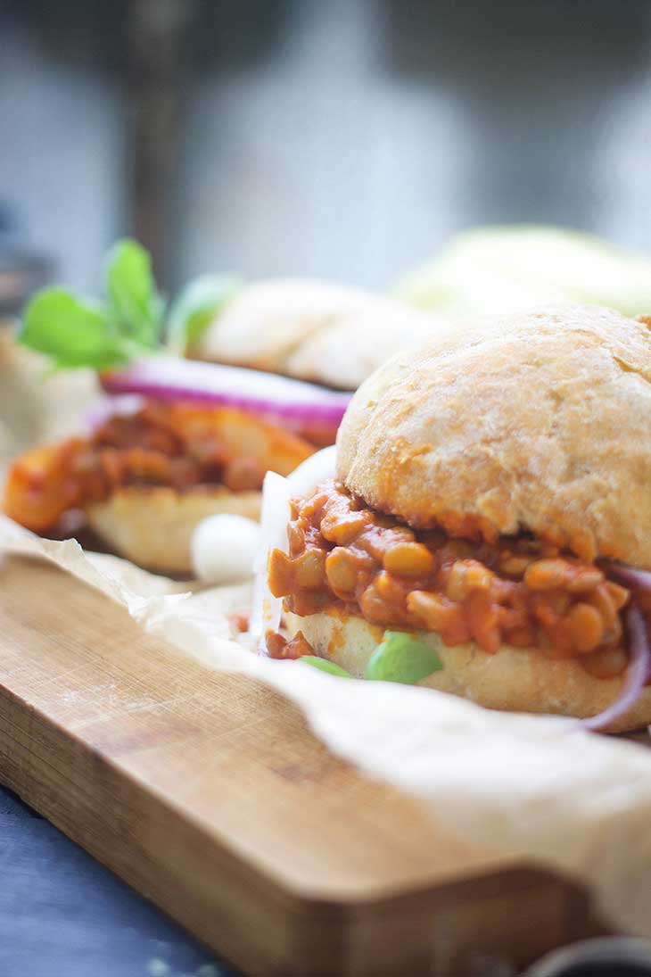 vegan sloppy joe burgers recipe