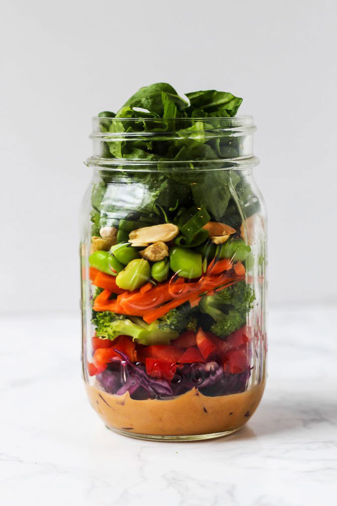 5 Vegan Mason Jar Salad Recipes for Lunch Meal Prep