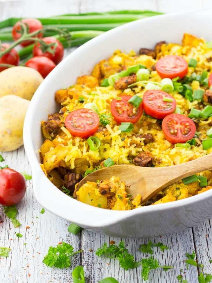 Vegetarian breakfast casserole for Breakfast Meal Prep