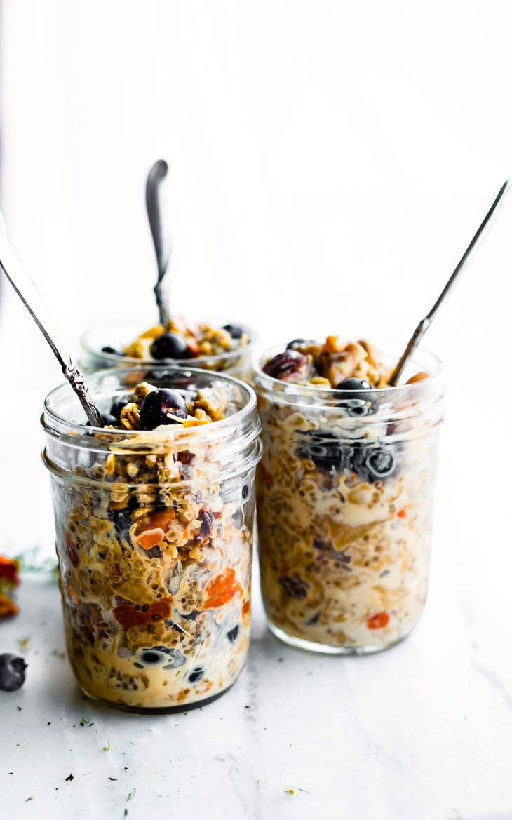 SuperfoodInstant Pot Oatmeal in a Jar for Breakfast Meal Prep