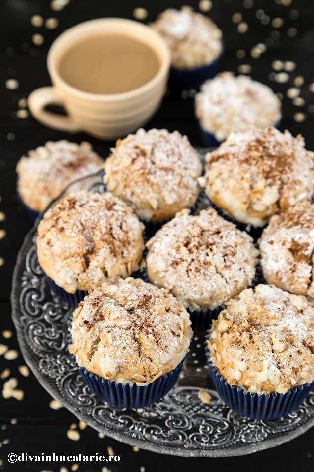 Muffins de post cu ovaz si cafea
