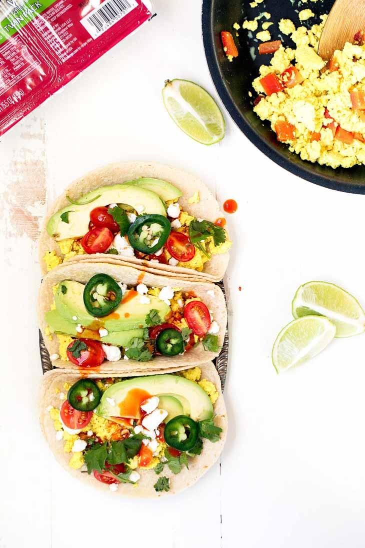 Meal Prep Idea: Scrambled Tofu Breakfast Tacos for Breakfast Meal Prep