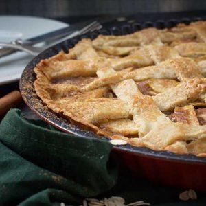 vegan apple pie placinta americana cu mere de post