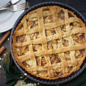 vegan apple pie placinta cu mere de post