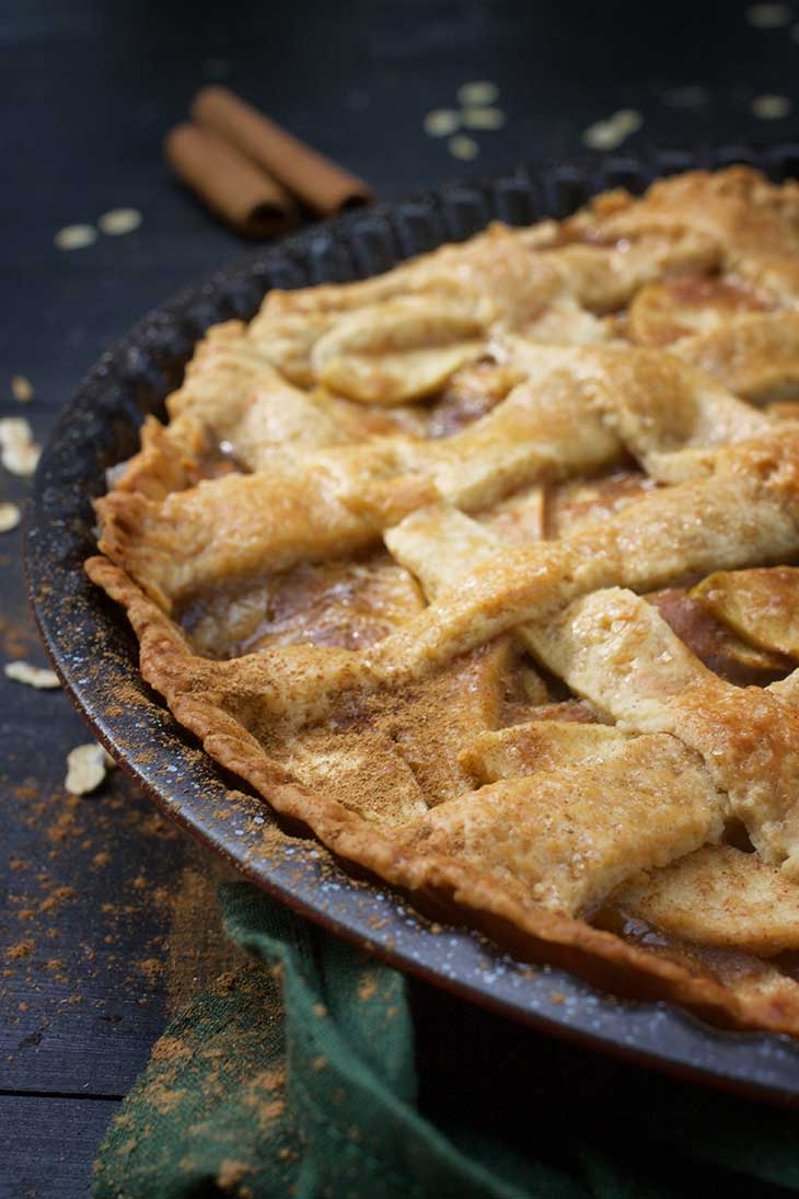 vegan apple pie recipe placinta cu mere de post