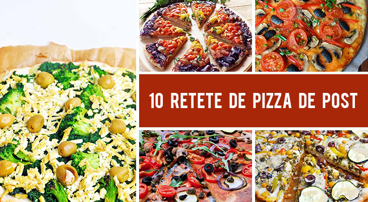 10 Retete de pizza de post (vegane)