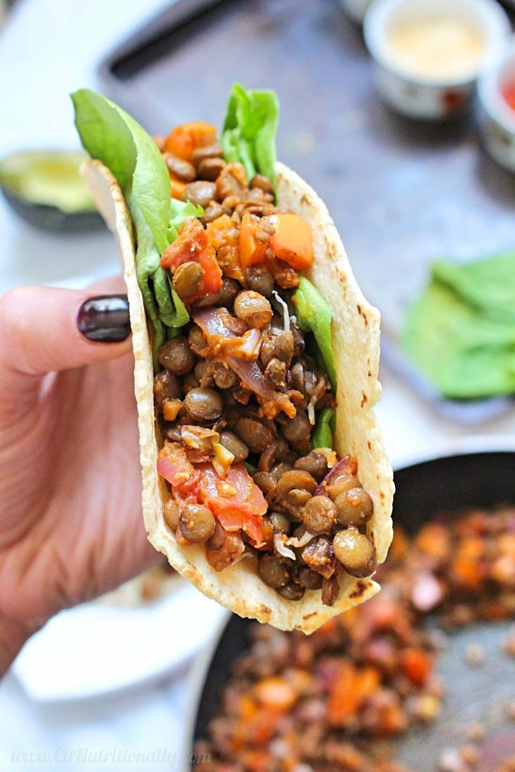6-Ingredient Easy Lentil Tacos