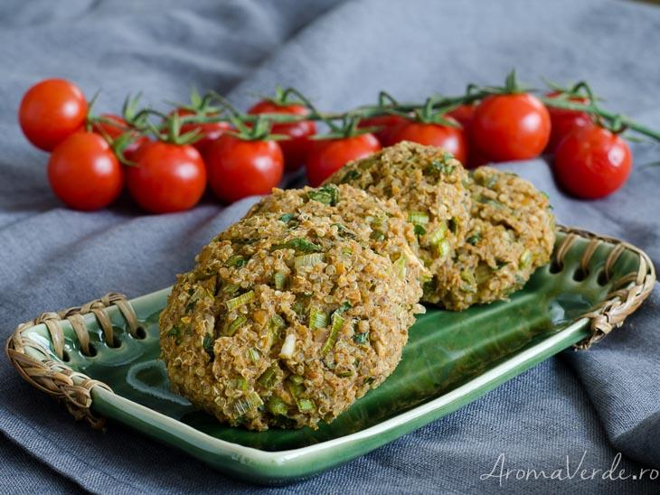 Burger vegan cu naut si quinoa