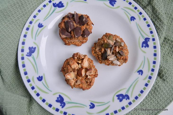 Fursecuri cu ovaz si banane – cookies fara zahar