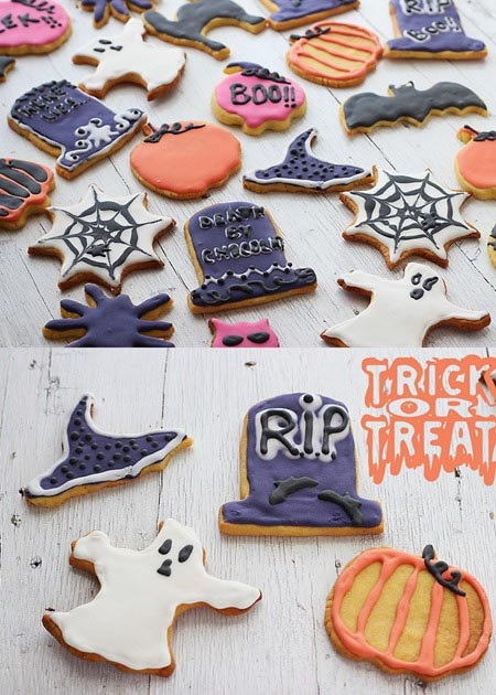 Biscuiti glasati pentru Halloween