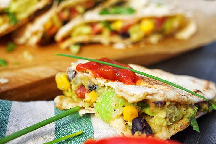 Healthy Vegan Quesadillas vegetariene