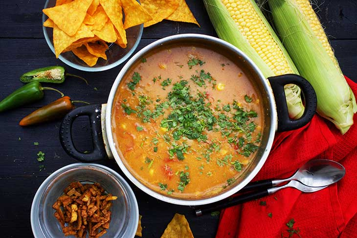Mexican Sweet Corn Soup supa cu porumb dulce