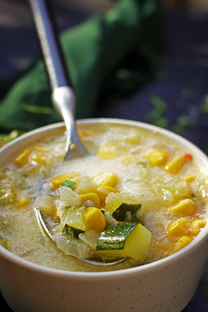 Mexican Zucchini corn Soup