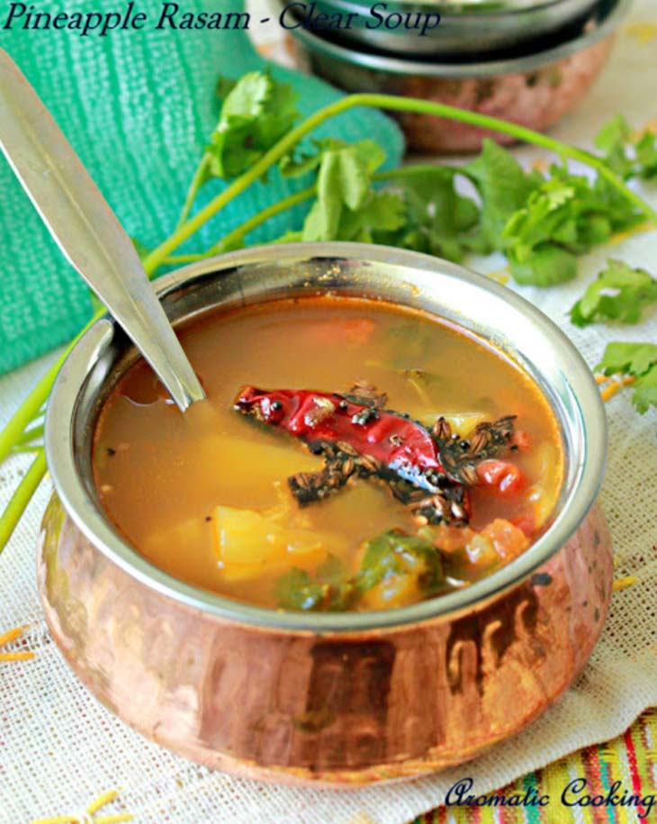 Pineapple Rasam / Clear Soup