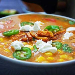 Spicy Mexican Sweet Corn Soup supa cu porumb dulce