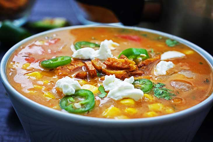 Spicy Mexican Sweet Corn Soup