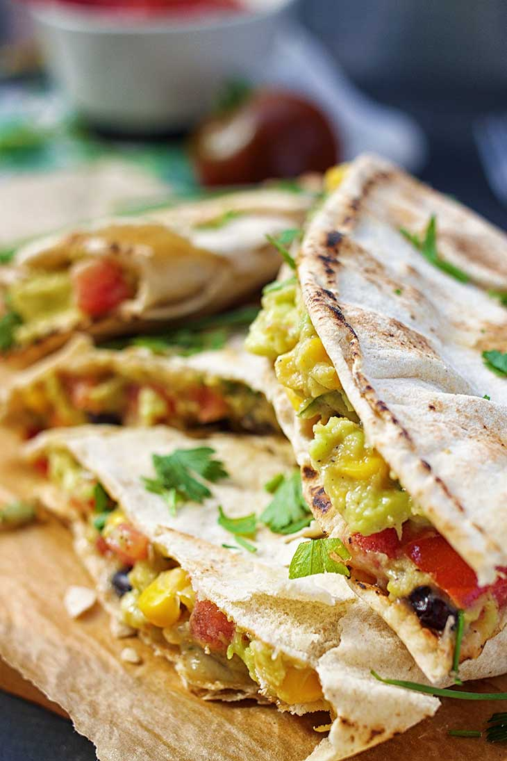 Vegan Avocado Quesadillas