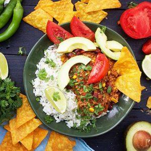 Vegan Chili Con Carne chili sin carne de post reteta