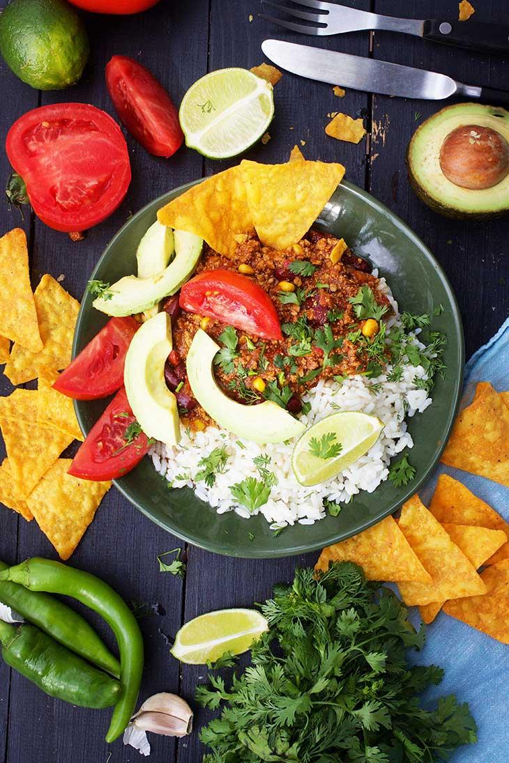 Vegan Chili Con Carne chili sin carne