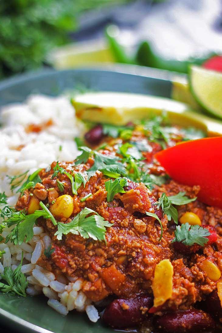 chili sin carne healthy recipe