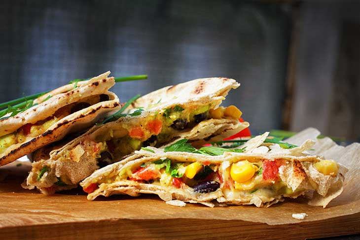 Vegan Quesadillas de post