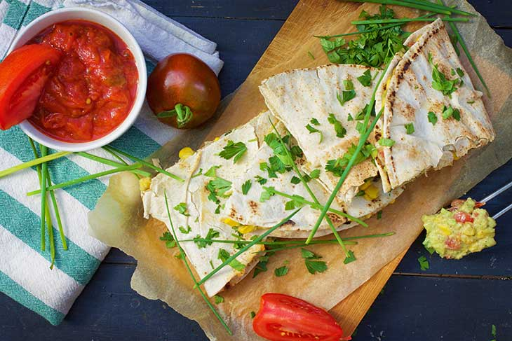 Vegan Quesadillas vegetariene