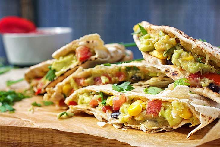 Vegan Quesadillas with Guacamole