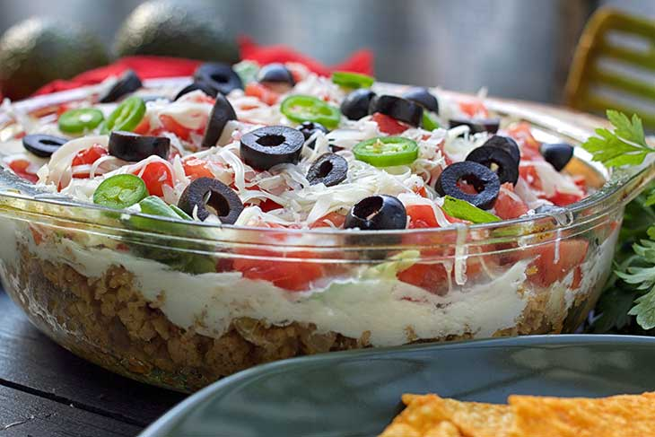 easy Vegan Tortilla Casserole