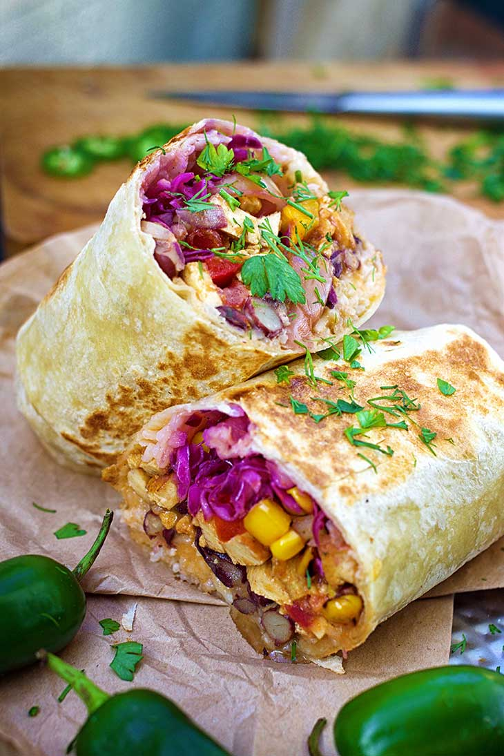 healthy vegan burrito
