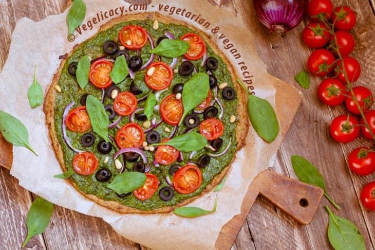 Healthy Zucchini Pizza Crust